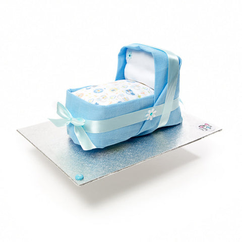 Nappy cake-mini cradle for a boy