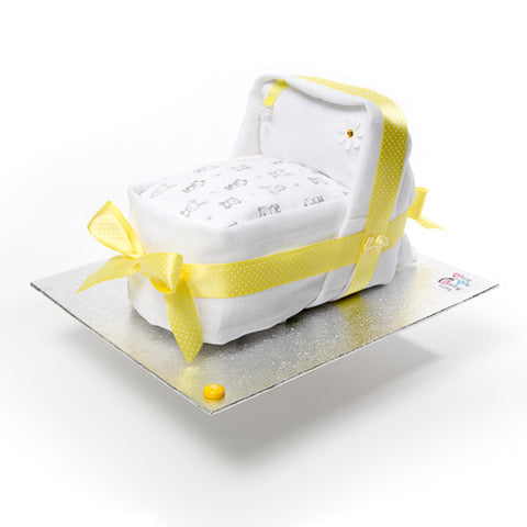 Nappy Cake - Yellow - Mini Cradle