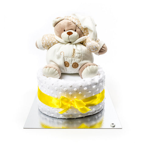Nappy Cake - Yellow - One Tier