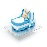 Peter Rabbit nappy cake cradle