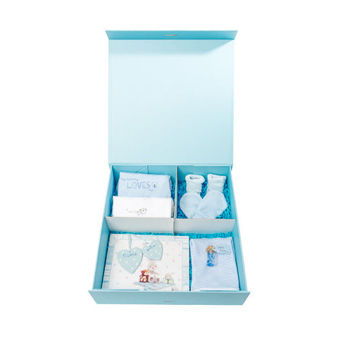Keepsake memory box for a baby boy