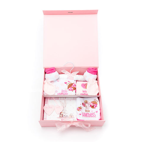 Keepsake memory box for a baby girl