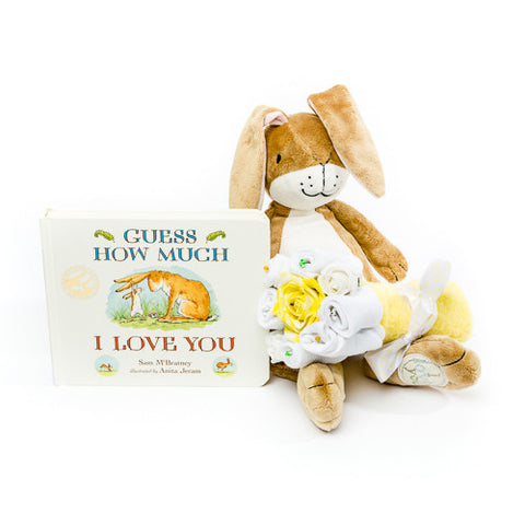 Baby Bouquet - Book Set - Yellow- Guess How Much I Love You
