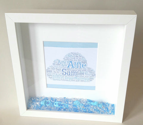 Personalised New Baby/New Parents Welcome to The World Frame