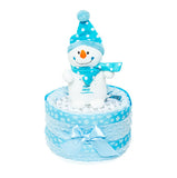 Nappy Cake - Blue - Baby's First Christmas