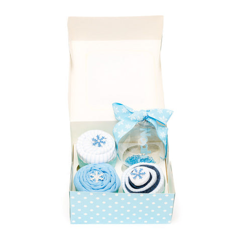 Clothing Cupcakes - Blue - Baby's First Christmas