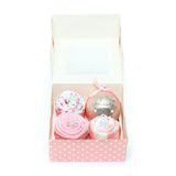 Clothing Cupcakes - Pink - Baby's First Christmas