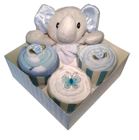 Clothing Cupcakes -Elephant- Blue- 4 pack