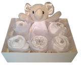 Clothing Cupcakes -Elephant comforter- White - 6 pack