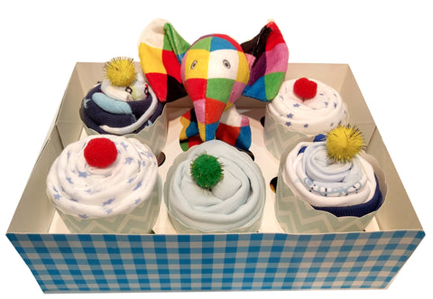 Clothing Cupcakes - Blue - Elmer - 6 pack