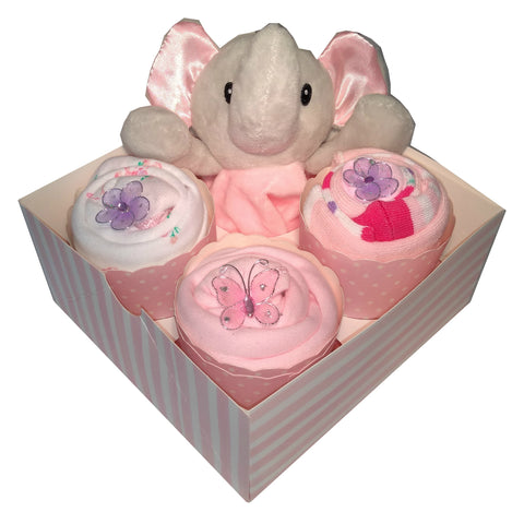 Clothing Cupcakes -Elephant- Pink - 4 pack