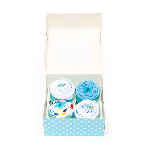 Clothing Cupcakes - Blue - 4 pack