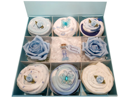 Personalised Deluxe Clothing Cupcakes - Blue
