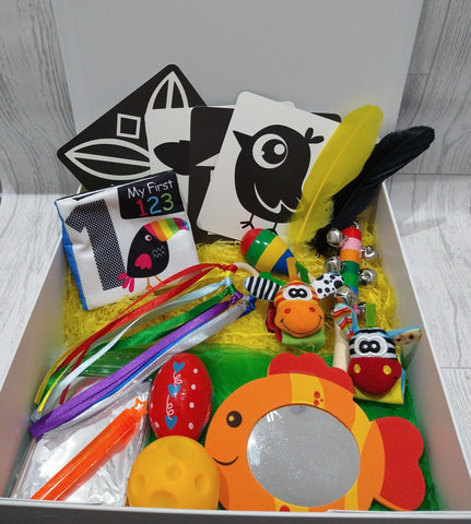 Deluxe Personalised Baby Sensory Box