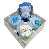 Clothing Cupcakes-Blue-Dinosaur-4 pack