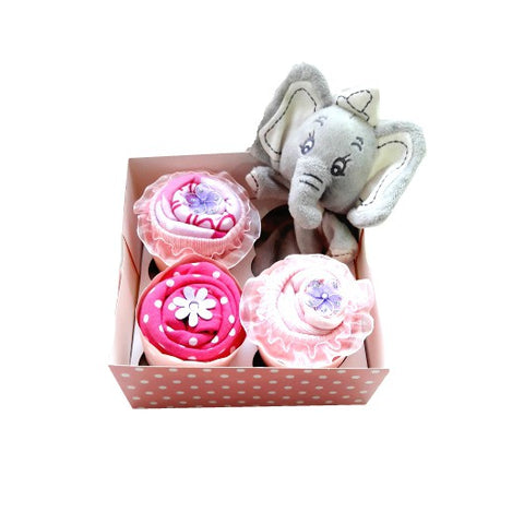 Clothing Cupcakes- Pink- Dumbo- 4 pack
