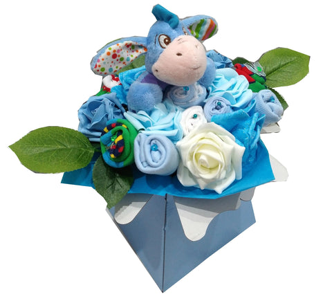 Baby Bouquet - Blue - Eeyore rattle toy