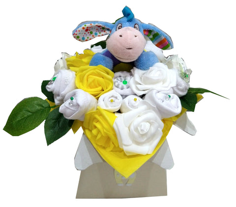 Baby Bouquet - White - Eeyore rattle toy