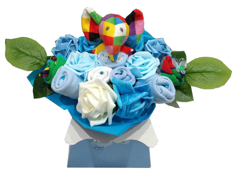 Baby Bouquet - Blue - Elmer rattle