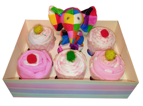 Clothing Cupcakes - Pink - Elmer - 6 pack