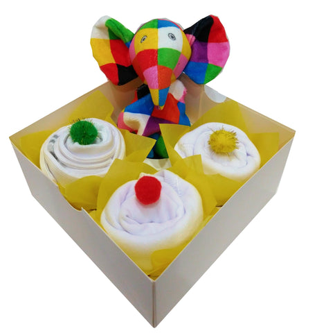 Clothing Cupcakes - White - Elmer - 4 pack
