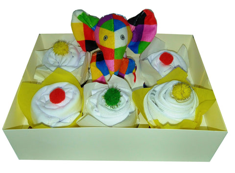 Clothing Cupcakes - White - Elmer - 6 pack