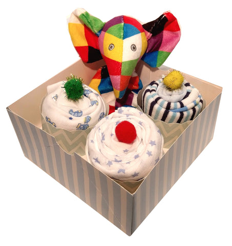 Clothing Cupcakes - Blue - Elmer - 4 pack