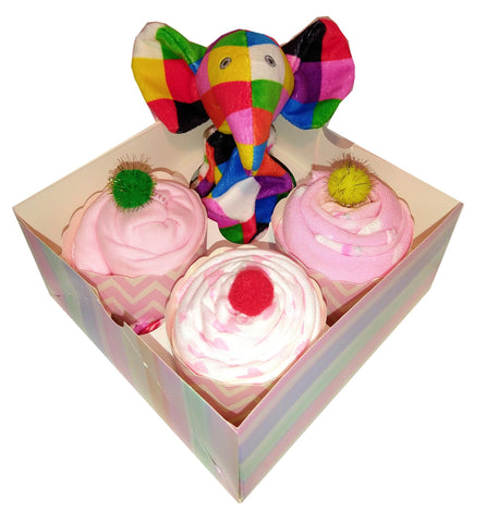 Clothing Cupcakes - Pink - Elmer - 4 pack