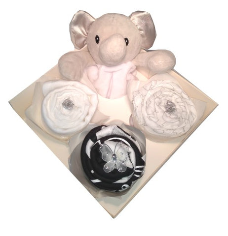 Clothing Cupcakes -Elephant- Monochrome - 4 pack