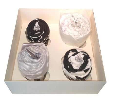 Clothing Cupcakes - Monochrome - Comforter- 4 pack