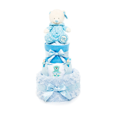 Nappy Cake-Blue-Three Tier