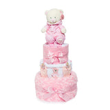 Nappy Cake-Pink-Three Tier