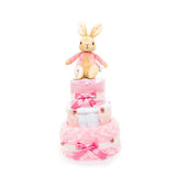 Nappy Cake-Pink-Three Tier-Flopsy Bunny