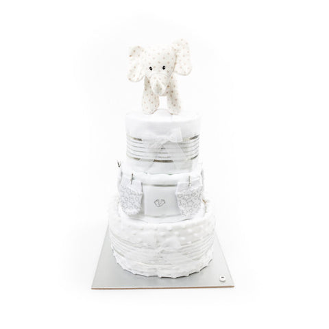 Nappy Cake-Yellow-Three Tier