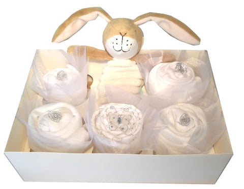 Clothing Cupcakes - White - Guess How Much I Love You - 6 pack