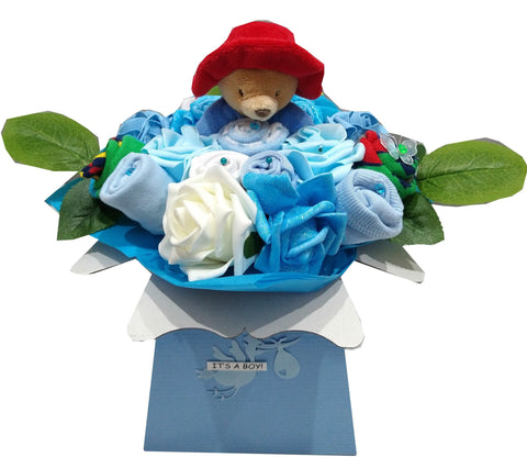 Baby Bouquet -Blue - Paddington Bear ring rattle