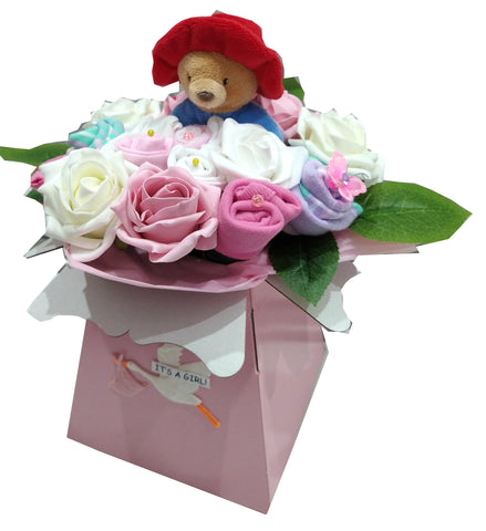 Baby Bouquet -Pink - Paddington Bear ring rattle