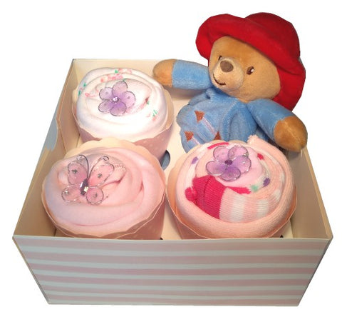 Clothing Cupcakes- Pink-Paddington Bear-4 pack
