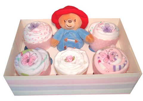 Clothing Cupcakes- Pink-Paddington Bear-6 pack