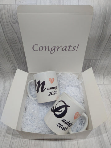 New Mum and Dad mug set