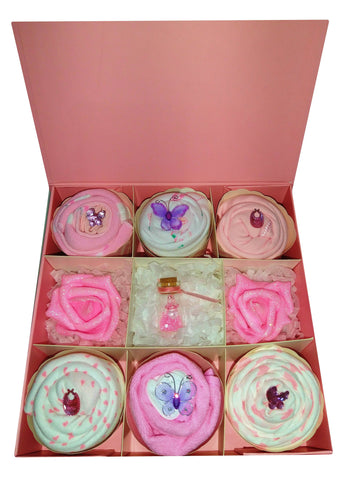 Personalised Deluxe Clothing Cupcakes - Pink