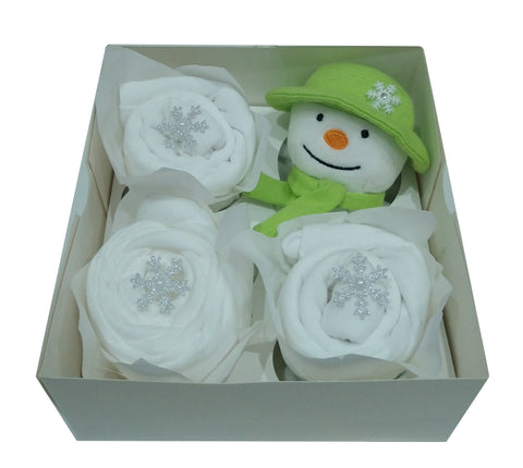 Clothing Cupcakes - White - The Snowman - 4 pack