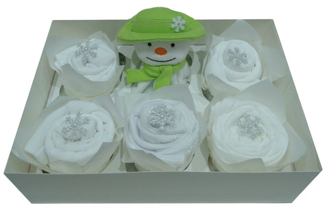 Clothing Cupcakes - White - The Snowman - 6 pack