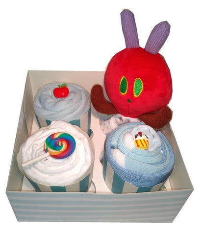 Clothing Cupcakes- Blue-The Very Hungry Caterpillar-4 pack