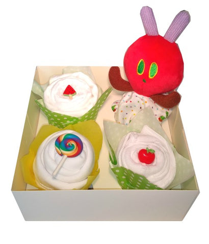 Clothing Cupcakes- Yellow-The Very Hungry Caterpillar-4 pack