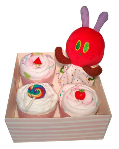 Clothing Cupcakes- Pink-The Very Hungry Caterpillar-4 pack