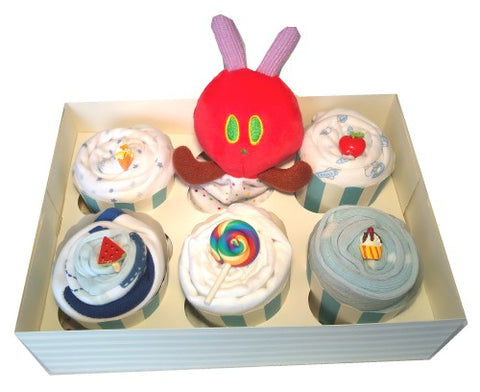 Clothing Cupcakes- BLue-The Very Hungry Caterpillar-6 pack