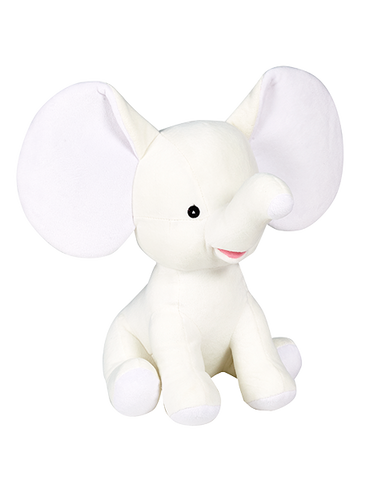 Personalised Elephant Soft Toy Keepsake Gift-White