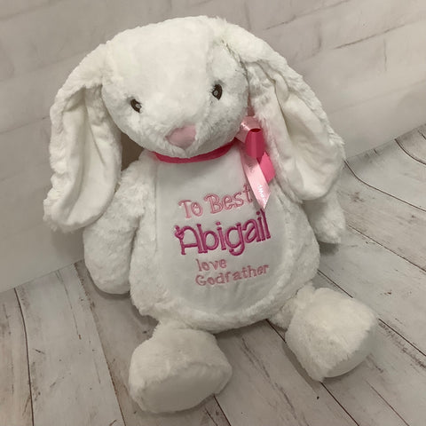 Personalised Bunny Soft Toy Keepsake Gift
