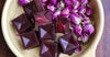 Raw Chocolates with Raspberry-Rose Centres